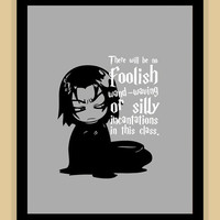 8x10 Harry Potter SNAPE foolish wand waving by psychobunnygal