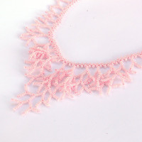 Pink Necklace - Beaded Handmade Jewelry