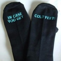 $30.00 Groom&#x27;s Socks in case you get cold feet by SilkscreenExpress