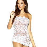 Lace Strapless Dress & G-string