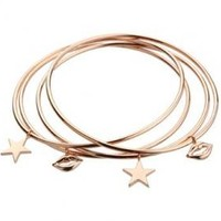 Jules Smith Star Struck Bangle in Rose Gold