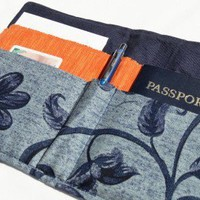 Passport Cover  Travel Wallet  Faux Blue by feedyoursoulthreads