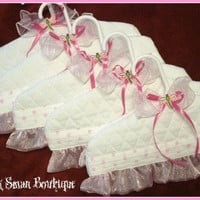 Baby HangersDragonflyQuilted5 Pc Gift Set by PinkSwanBoutique