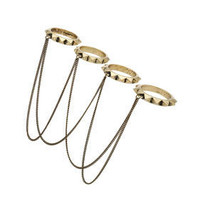 Spike Chain Drape Ring Set - Sale  - Sale &amp; Offers