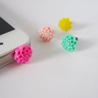 Flower - iPhone earphone plug dust plug - Pick your color