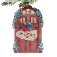 New Home Christmas ornament - Personalized family name Christmas ornament - Front door Christmas ornament