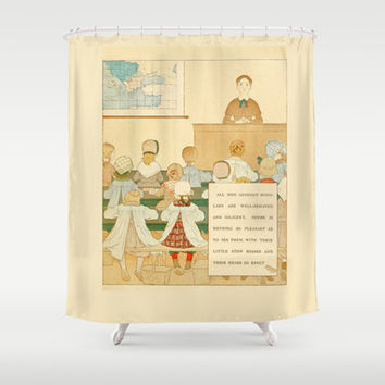 French Lesson Shower Curtain by Anipani