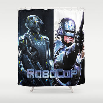 Robocop Shower Curtain by Store2u