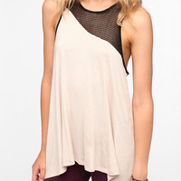 Sparkle &amp; Fade Asymmetrical Mesh Tank Top