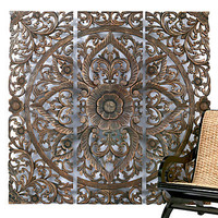 Carved Sanctuary Panel | Wall Decor | Accessories | Z Gallerie