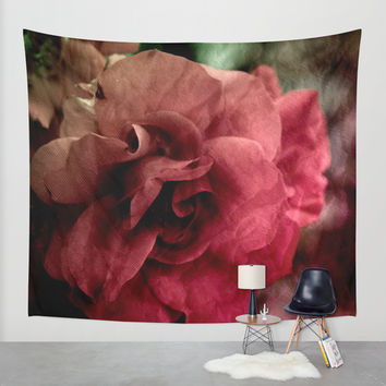 one rose Wall Tapestry by VanessaGF