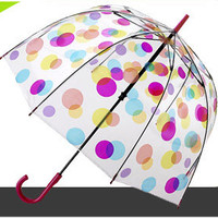 Birdcage 2 - see through PVC dome umbrella - Spots