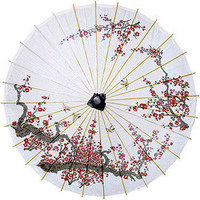 Cherry Blossom Paper and Bamboo Parasol
