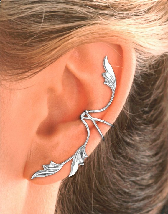 full ear 3 leaf ear cuff earring in from earcharms on etsy. Black Bedroom Furniture Sets. Home Design Ideas