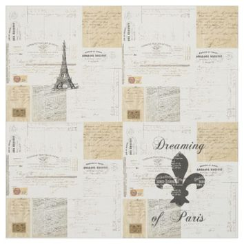 Vintage Dreaming of Parise French Fabric