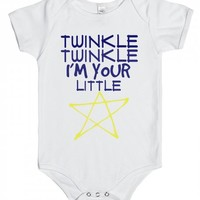 LITTLE STAR - American Apparel Baby One Piece / White