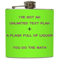 &quot;You Do The Math&quot; - Funny Neon Green Flask