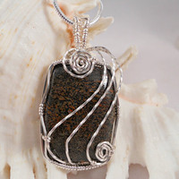 Wire Wrapped Jewelry - Handmade - Dinosaur Bone Pendant