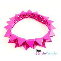 Neon Spike Bracelet (Purple) - the85stylePeople