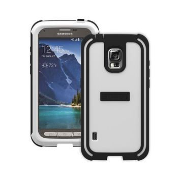 AccessoryGeeks.com | Trident White/ Black Samsung Galaxy S5 Active Cyclops Series Thermo Poly Elastomer (Super TOUGH) Hard Case w/ Built-In Screen Protector {CY-SSGS5A-WT000} - Amazing Protection! | Free Shipping!