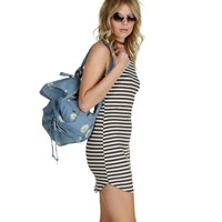 Pre-Order: Charcoal Stripe It Up Tunic