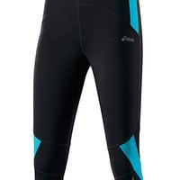 Buy Asics Knee Tight 3/4 Length Running Tights, Black/Aquarium online at JohnLewis.com