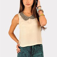 Nobody Puts Baby In The Corner Top - Taupe at Necessary Clothing