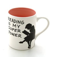 Back to School Reading is my Super power mug Great teacher gift