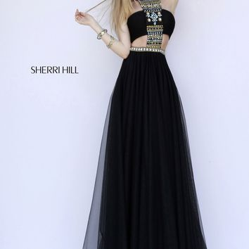 Sherri Hill 11247 Sexy Chiffon Beaded Dress