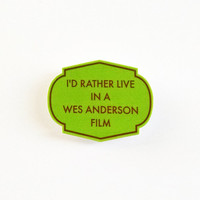 Wes Anderson pin, button, brooch