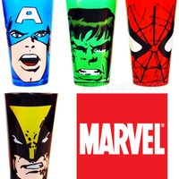 $24.99 MARVEL GLASS TUMBLER SET