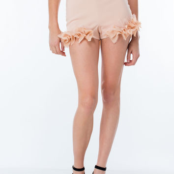 Call Me Pretty Chiffon Trim Shorts