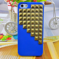 iPhone 5 hard Case cover with bronze pyramid stud for iPhone 5 ,iPhone 5 case,iPhone hand case cover  -2707