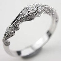 Swirling Diamond Wedding Band, RG-1750wbi