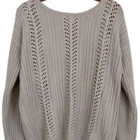 Bed and Breakfast Cable Knit Pullover, Oatmeal