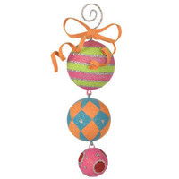 RAZ Multicolored 7 Dangle Ball Ornament