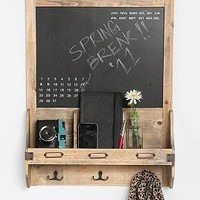 Vintage Wood Calendar Chalkboard