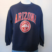 Vintage Awesome 80s ARIZONA WILDCATS GRAPHIC Soft Russell Athletic College Unisex Medium Large 50/50 Crewneck Sweatshirt