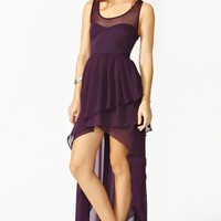Cascading Chiffon Dress