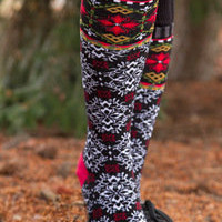 Socks by Sock Dreams » Zap » Black Forest Knee High