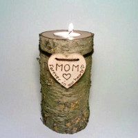 Memorial Candle, Rustic Candle, Unity Candle,  Personalized Candle Holder, Rustic Wedding Candle