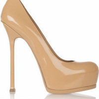 Yves Saint Laurent | Tribtoo patent-leather pumps | NET-A-PORTER.COM