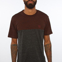 The Monostack Paneled Tee in Brick