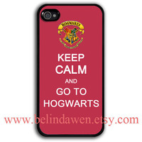 iPhone 4 Case, iphone 4s case, keep calm and go to hogwarts iphone 4 case, harry potter