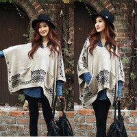 Korean Fashion Womens Irregular Hem Batwing Loose Sweater special tops cq133