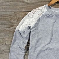 Soft Loop Lace Sweatshirt, Sweet Bohemian Sweaters