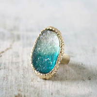 Ombre Druzy Ring , Sweet Bohemian Jewelry