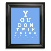 The Simpsons Eye Chart, Homer Quote, You Don&#x27;t Win Friends With Salad, 8 x 10 Giclee Print BUY 2 GET 1 FREE