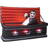 Airblown Inflatable Vampire Coffin Halloween Yard D?cor
