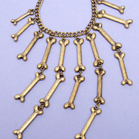 Bad To The Bone Necklace $34